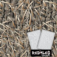 Redleg Camo DG2 grass camouflage stencil kit 18x26 duck marsh **2 Included**