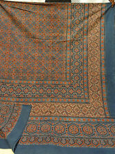 Traditional Indian Hand Block Floral Printed 100% Cotton Queen Sheet