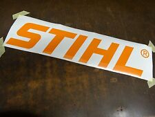 Large STIHL Decal Stickers Work Shop Sticker Forestry Chainsaw Wall Sign Graphic