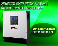 24v 3000w Solar inverter + 50A solar charger + battery charger 30A