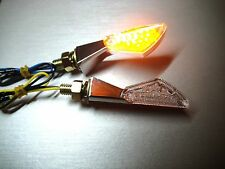 ►2X LED MINIBLINKER CHROM MATRIX HARLEY XR1000,Twin Cam 96B,Sportster 883,XL53C