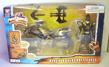 New 2004 DINO THUNDER BLACK HOVERCRAFT CYCLE Power Rangers Ban Dai Action