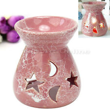 Ceramic Warmer Oil Diffuser Candle Holder Fragrant Aromatherapy Burner Pink New