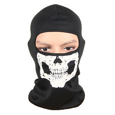 Motorcycle Bike Balaclava Ghost Skeleton Skull Mask Full Face Neck Head Hood Cap