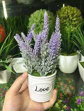 New Purple Lavender Bonsai Love Bottle Simulation Plant G-1