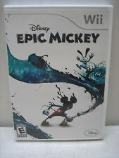 NINTENDO WII EPIC MICKEY GAME COMPLETE & TESTED