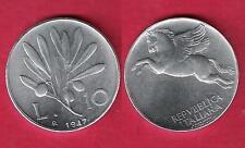 10 Lire 1947 OLIVO FDC Repubblica Italiana 1946 - 2001