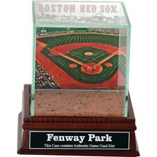 Fenway Park Glass Baseball Display Case With Game Used Field Dirt Steiner