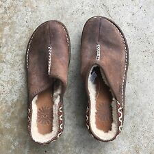 UGG Australia Brown Suede Leather Shearling KOHALA Clogs Mule Shoes US 5 EU 36