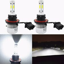 Alla Lighting 8000lm H13 9008 Super White COB LED Headlight Conversion Kits Bulb