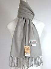 DG Men's Winter Scarf.Warm Solid Gray Cashmere Feel*Soft*Unisex