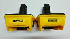 2 (Two) New Dewalt DCA 1820 20V MAX To 18V Adapter Converter For Dewalt Battery