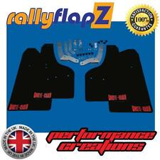 Mud Flaps SKODA FABIA MONTE CARLO MK2 (2013 on) ESTATE Black 3mm PVC Logo Red