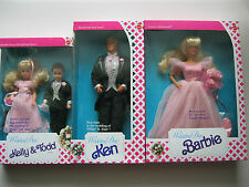 1990 Wedding Day Barbie-Ken-Stacie-Todd Dolls Lot of 3 NRFB