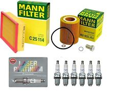 NEW BMW E39 E46 OEM Tune Up Oil Filter , Air Filter & 6-NGK Platinum Spark Plugs