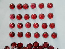 red garnet cabochon 6mm round cut flat backs £3.49 each stone