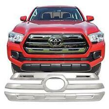 GRILLE OVERLAY 2 Piece Chrome Plated ABS Plastic For: TOYOTA TACOMA 2016-2017