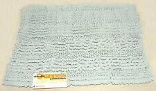 """LUXURIOUS - Chenille Dog / Pet Blue - Soft NOODLE Snuggly Bed RUG 17"""" x 24"""" *NEW"""