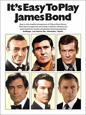James bond themes for easy piano-partitions livre avec corde symboles