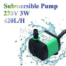 220V 3W 450L/H Submersible Pump Aquarium Fish Tank Fountain Water Hydroponic