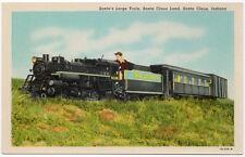 Postcard Santa Claus Land Railroad Train in Santa Claus, Indiana~107675