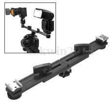 13'' 33cm Twin Swivel Speed Light Flash Hot Shoe Bracket Mount Holder For Studio