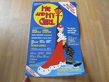 Bonnie LANGFORD in ME and My GIRL 4th Year Original ADELPHI Theatre Poster
