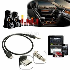 40cm Micro USB 2.0 Male A 3.5mm Stereo Audio Voiture AUX Jack Adaptateur Cable