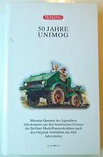 """WIKING 990 24 58 """"50 JAHRE UNIMOG"""" leere Box Schachtel Schatulle Verkaufsbox OVP"""
