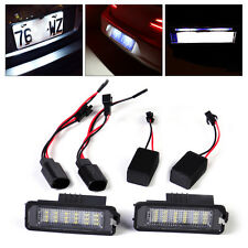 2pcs White 18 LED Error Free License Plate Light Lamp Kit fit VW Golf Eos Passat
