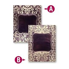 NIP Spellbinders Framed Labels One  Embossing Folders  M-Bossabilities 5 X 7