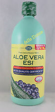 ESI ALOE Vera 1000ml SUCCO PURO FRESCO 100% + concentrato Mirtillo juice
