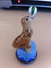 Limoge Hand Painted Sea Lion Very Rare!!! Not Made Anymore