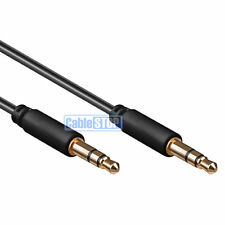 1.5m SLIM 3.5mm Mini Stereo Jack to Jack Plug Audio Headphone Car Aux Cable Lead