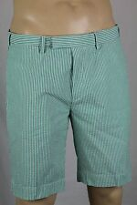 Polo Ralph Lauren Green White Striped Suffield Fit Seersucker Shorts NWT 36