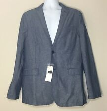 Ben Sherman Heritage of Modernism Blue Cotton Jacket Blazer Sport Coat Size XXL