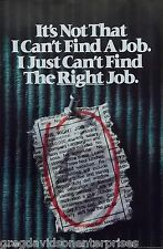 The Right Job 23x35 Weed Ganja 420 Marijuana Poster College Humor