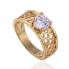 Hot cubic zirconia mens rings vintage ring size 8 Filigree gold filled Band Ring