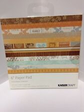 "KAISER CRAFT ""HOMEMADE COLLECTION"" 6x6 PAPER PAD BN"