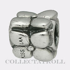 Authentic TrollBeads Silver Flowers Bead Trollbead RETIRED 11216