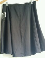 LADIES FLAIRED BLACK SKIRT by NYCC - ELASTIC WAIST SIZE M BNWT RRP $32.00