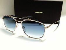 NEW AUTHENTIC TOM FORD MARLON FT0339/S 28W GOLD/BLUE GRADIENT 57mm SUNGLASSES