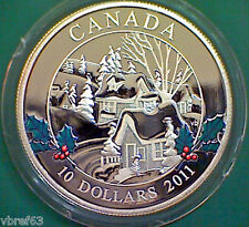 2011 CANADA Winter Town $10 99.99% silver - mint condition!!