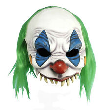Adult PVC Scary Evil Grinning Clown Mask Halloween Costume Accessory