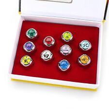 10pcs Cosplay Naruto Rings Akatsuki Member's Ring Set Collections In Box