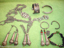 Collection antique Tribal Indian Kashmir Afghanistan silver jewelry jewellery