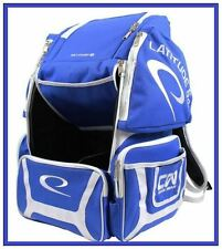 Latitude 64 DG Luxury E2 Backpack - Blue Disc Golf Bag Holds 20+ Discs