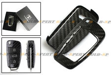 LUXURY CARBON FIBER HARD CASE FOR AUDI A3 A4 A5 A6 A6 RETRACTABLE KEY FOB REMOTE