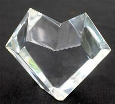 "Vintage Signed BACCARAT France Crystal Cut BLOCK HEART Shape 3""h Paperweight"