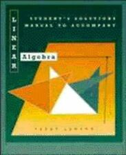 Linear Algebra, Students Solutions Manual
